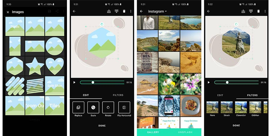 Add animated photos to your video